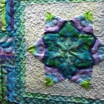 Batik quilt 2 applique star detail