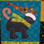 Applique Cat with bell on hat
