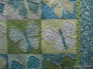Butterfly quilting detail