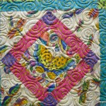 Swirl and Curl quilting detail
