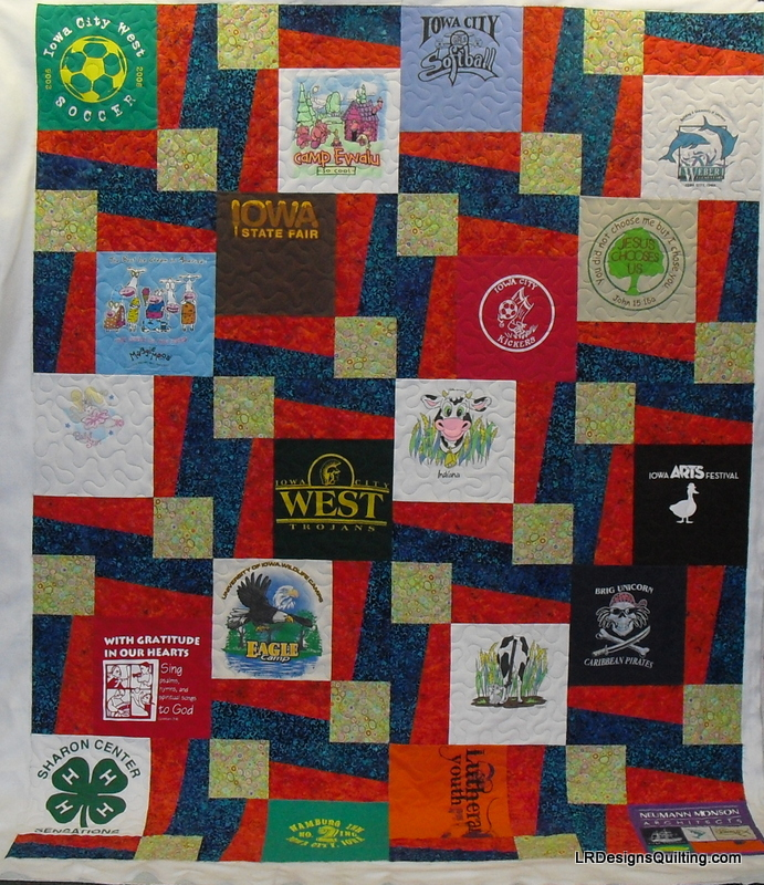 Quilting Designs For T Shirt Quilts : Maggie s T-Shirt quilt BQ3 pattern