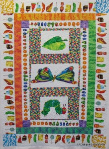 Hungry Caterpillar panel quilt