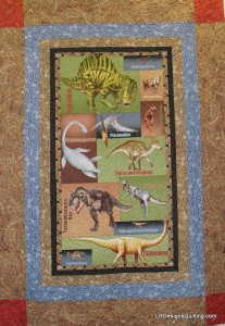 Dinosaur panel quilt