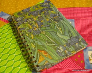 Van Gogh Irises notebook