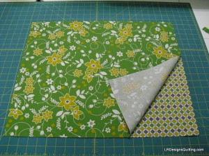 2 coordinating fat quarters trimmed