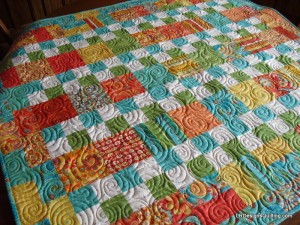 Swirl and Curl quilting