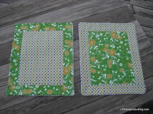2 quilted dish mats