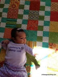 Kailani and Tummy Time quilt