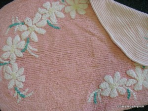 Vintage bath mat
