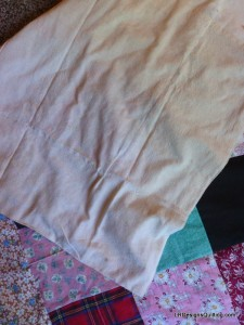 Vintage Quilt with solid heavy muslin back