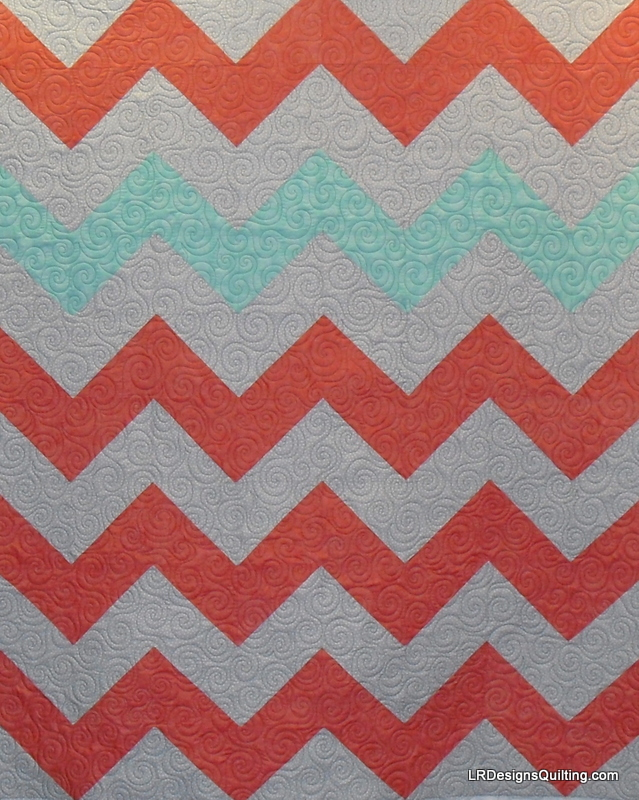 everywhere! Ashton, a new quilter, designed this modern chevron quilt ...