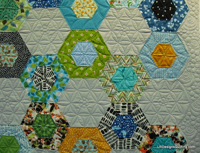 detail kaleidoscope quilting
