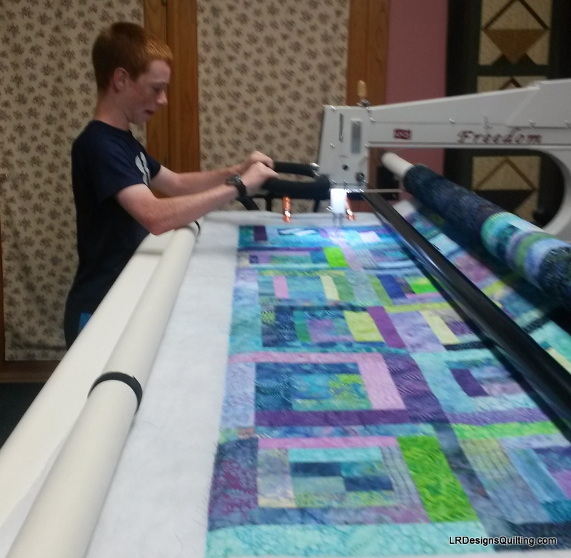 Jack is quilting it