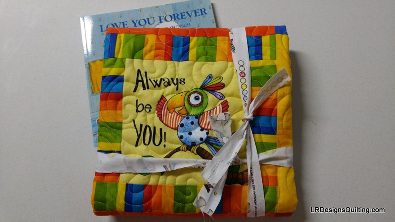 Be Positive Mini Quilt for Schneiter Baby